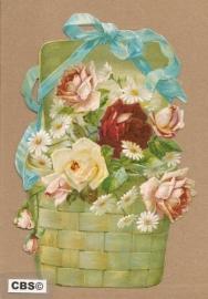 Mand met rozen en lint poezieplaatjes 5115