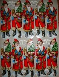 PZB 1220 Kerstmannen oude poezieplaatjes