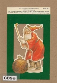 Poezieplaatje Golfende kerstman 4456