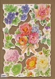 Bloemen met viooltje poezieplaatjes MLP 1990
