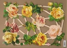 Sierlijke rozen met steel poezieplaatjes 7346