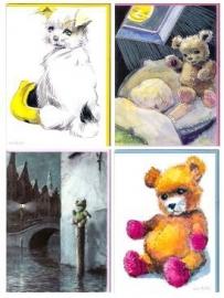 4 verschillende W.G. van de Hulst kaarten – set 1