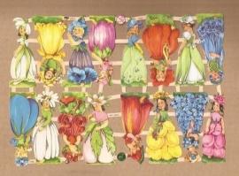 Bloemenkinderen mini poezieplaatjes 7425