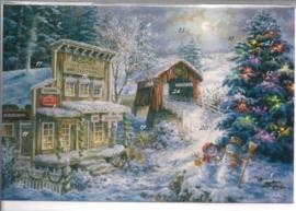 Adventskalender Kaart: Kerstboom in de sneeuw - 12355