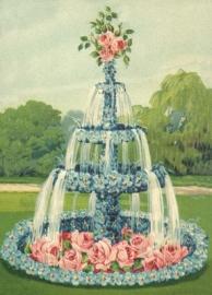 Vergeet-mij-nietjes en Rozen fontein Reliefkaart EF 3042