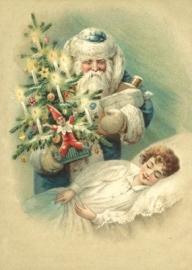 Bezoek van de Kerstman Reliefkaart EF 3053