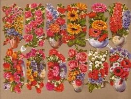 Kruger 98/20 Grote bloemenvazen poezieplaatjes