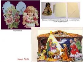 Sierkaart 5021: Herders bij Jezus in de kribbe Poezieplaatjes