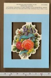 Poezieplaatje boeketje met roos EWC01316
