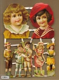 Kinderen nostalgie feestelijke poezieplaatjes GL7091