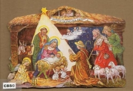 Herders aanbidden Kindje Jezus poezieplaatjes 5021