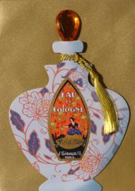 Parfumfles met edelsteen stop Kaart: Eau de Cologne [EC-5704]
