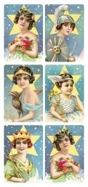 Dames van overvloed poezieplaatjes Stickers Y204