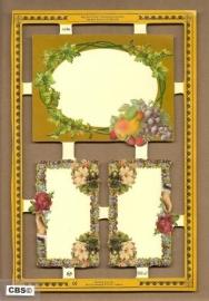 Etiketjes met fruit en bloemen poezieplaatjes A 106 *