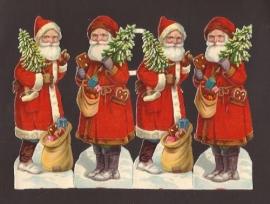 Kerstmannen met lebkuchen oude poezieplaatjes