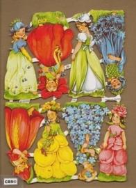 Bloemenkinderen klein Poëzieplaatjes 7141