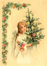 Kerstengel Reliefkaart EF 3066