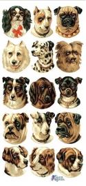 Hondenkopjes poezieplaatjes Stickers P04