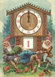 Dwergjes met de klok op twaalf uur Reliefkaart EF 3031