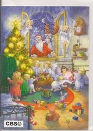 Adventskalender Kaart: Engelen verstoppen cadeau`s - 488