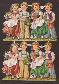 PZB 1275 Vrolijke kindjes oude poezieplaatjes