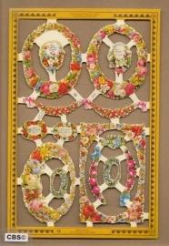 Bloemen ovaaltjes poezieplaatjes A 157