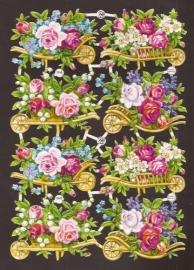 PZB 1348 Bloemenkruitjes oude poezieplaatjes