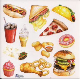 Fast food poezieplaatjes Stickers K60