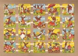 Pasen vrolijke vierkante poezieplaatjes 7458