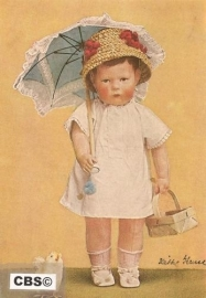 Kathe Kruse pop met paraplu [134]