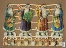Gekleurde Kerstmannen & kopjes Poëzieplaatjes 7306