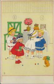 Kinderfeestje prentbriefkaart [SV G005]
