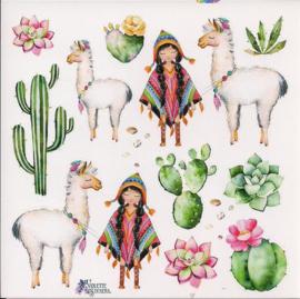 Lama's poezieplaatjes Stickers K64