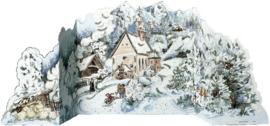 11584 3D Adventskalender: Kerstkerkje in het winterbos