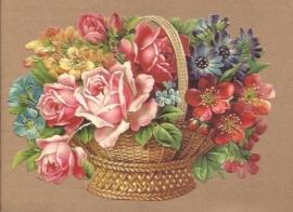 Mand met Rozen en bloemen poezieplaatjes 5142