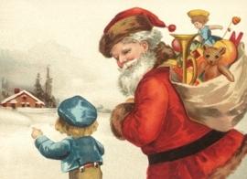 Kindje wijst Kerstman de weg Reliefkaart EF 3034