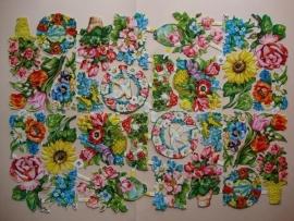 3027 EAS Dubbel vel Feestelijke bloemen Poezieplaatjes