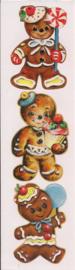 Peperkoekmannetjes poezieplaatjes Stickers Strip QT08