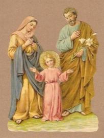 Jezus met Jozef en Maria poezieplaatjes 5162