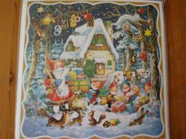 11710 XL Adventskalender: Kerstman bezorgt pakjes in het bos met kabouters