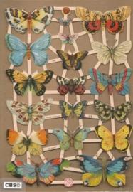 Vlinders met Koolwitje poezieplaatjes GL7297