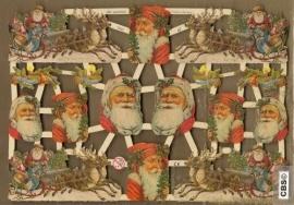 Arreslee met Kerstman poezieplaatjes GL7260