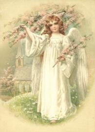 Engelen met bloesem Reliefkaart EF 3051