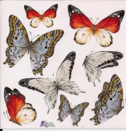 Berg-Vlinders poezieplaatjes Stickers K18