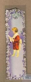 Nostalgische boeklegger jongen rood met viooltjes (poëzieplaatjes)