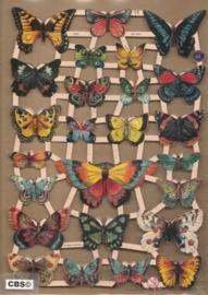 Vlinders groot en klein poezieplaatjes GL7324