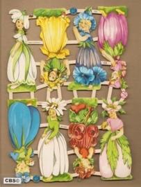 Bloemenkinderen klein poezieplaatjes 7359