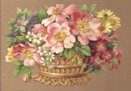Kleurige bloemenmand poezieplaatjes 5143
