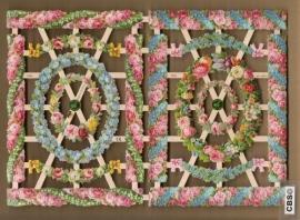 Randjes en cirkel bloemslingers poezieplaatjes 7352