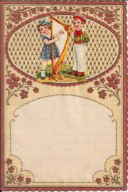 Wensbrief: Kinderen met harp 357